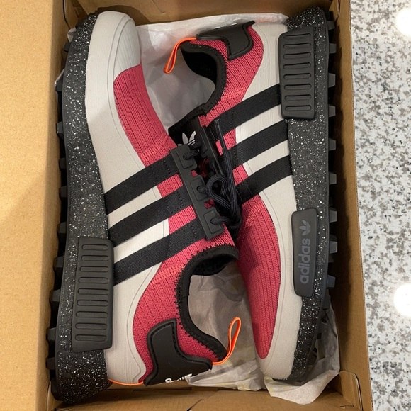 Adidas NMD R1 Trail Wild Pink Black Size 10 Shoes